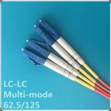 Lc-LC Koord van het Flard van Multi-Mode Vezel van PC het Optische