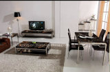 (DT12)販売のためにセットされるシンプルな設計の金属のダイニングテーブルの椅子