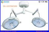 Indicatore luminoso chirurgico di di gestione LED del doppio soffitto capo registrabile di luminosità
