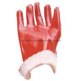 저어지 니트 손목 안전 일 장갑을%s 가진 PVC 콜로이드 입자