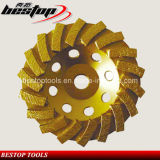 Поделенное на сегменты колесо чашки диаманта меля для бетона тонкия помола