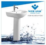 Раковина мытья тазика постамента мытья Weidansi керамическая (WDS-P7203)