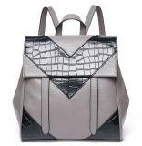 De echte Schooltassen van de Rugzakken van het Leer voor Schouder Packbag Emg4670