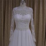 Lange Hülsen-Hochzeits-Kleid-Brautkleider