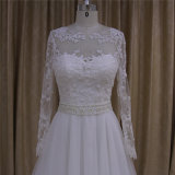 Vestidos nupciais longos de vestidos de casamento da luva