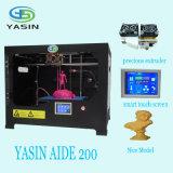 Imprimante de la taille 3D de construction de l'appareil de bureau 220mm*220mm*200mm de Yasin