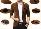 2015のメンズ光沢があるPailletteイギリス様式の服スーツ