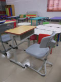 Escritorio y silla modernos ajustables (SF-26S) de la escuela