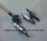 Adaptador/punta de prueba/aprisa conector médicos estándar del gas de JIS