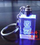 Кристаллический Keyring восьмиугольное Keychain с логосом и светом СИД