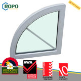 Energy Saving Australian Standard UPVC Arched Glass Window Design