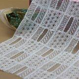 Tessuti di nylon del merletto del ricamo della guipure per gli abiti ed i vestiti