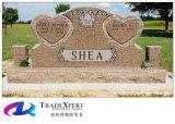 Headstone del memoriale del cuore del doppio del monumento del granito del Brown