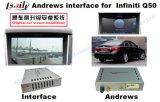 Androide GPS-Navigations-videoschnittstellen-Kasten für Infiniti Q50/Q50L/Q60 Aufsteigen 2014-2016 mit Spiegel-Link, Form-Bildschirm, WiFi