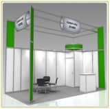 feira profissional Stand/Exhibition Display Booth de 3*3*2.5m Aluminum Extrusion