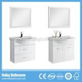 Os mercadorias sanitários do banheiro de madeira elevado do MDF da pintura do lustro podem ser personalizados (BF138D)