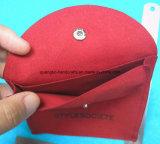 Стандартный хоп Розовый Серый бархат ювелирных мешок (JP-01)