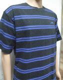 Männer gedrucktes Streifen-T-Shirt