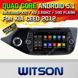 Carro DVD GPS do Android 5.1 de Witson para KIA Ceed 2012 com sustentação do Internet DVR da ROM WiFi 3G do chipset 1080P 16g (A5776)