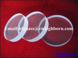 Fenêtre en verre ronde transparente de quartz de vente chaude