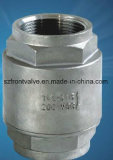 La precisione che lancia l'acciaio inossidabile ha avvitato la valvola di ritenuta verticale 1PC-Spring