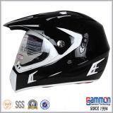 落書き(CR407)が付いている道のヘルメットを離れた無光沢の表面