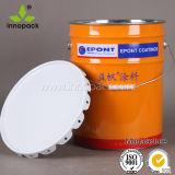 페인트와 윤활유를 위한 10L 꽃 뚜껑 물통 금속 물통