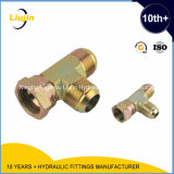 SAE Hydraulic 37 Degree Jic Fittings& Adapters con Carbon Steel /Male Tee Fitting