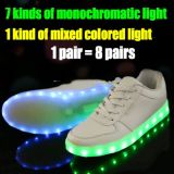 Sapatas lisas por atacado da luz da sapatilha do diodo emissor de luz