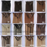 Clip droit de Hairpiece de fibre synthétique dans la prolonge 7PCS de cheveu