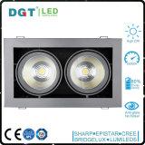 luz ajustable ahuecada 2*30W de la parrilla del ángulo LED del rectángulo para la iluminación de interior
