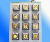 De grote Nagel van het Chroom van het Aantal Heldere zet Toetsenbord K12 op