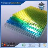 Hoja azul del material para techos de la depresión del policarbonato del tragaluz
