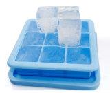 Горячее надувательство 9 полостей придает квадратную форму подносу льда силикона формы с крышкой