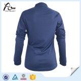 Masquer la longue usure 100% de sports de femmes de chemise de polyester