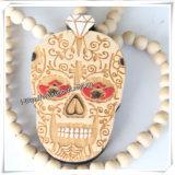 Естественный деревянный шкентель с цепью ожерелья 36 дюймов Beaded (IO-wn015)