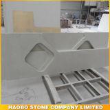 Белый Countertop камня кварца для кухни или ванной комнаты
