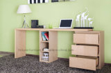 Scrivania Stretchable di legno con la cassa dei cassetti e dello scaffale (N701-1.8)
