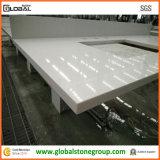 Vanità bianca di superficie solida del quarzo per il progetto di ospitalità/appaltatore di Furnitute