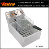 Sale caldo Commercial Electric Fryer, Desktop Electric Fryer per French Fries, Potato Chips ecc, 1 Tank 1 Basket, CE Approved (HY-82EX)