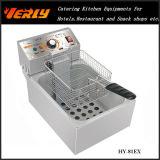 Sartén eléctrica comercial de la venta caliente, sartén eléctrica de escritorio para las patatas etc, 1 cesta del tanque 1, CE del patata frito, fritas aprobado (HY-82EX)