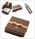 Коробки подарка картона хранения бумаги карточки золота конструктора