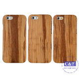 Caso duro de madera de bambú de madera natural para iPhone 6 Plus