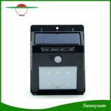 Lámpara de pared al aire libre del jardín de la luz del sensor de movimiento de la energía solar 6 LED PIR para las luces impermeables de la yarda del paisaje de las lámparas del césped del jardín