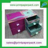 Casella impaccante di carta cosmetica di lusso del cassetto stampata abitudine
