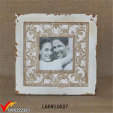 Stained Shabby Chic Rustic Wood Table Version Couple Photo Frame