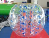 PVC TPU破裂音の人間の遊園地の膨脹可能なフットボールの豊富な泡球