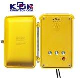 Telefone Emergency Knsp-04 do amarelo da segurança/Handsfree/Autodial