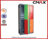 El almacenaje colorido de acero del metal del gabinete de la gimnasia de la escuela del armario 6-Doors arropa el armario Cmax-SL06-001