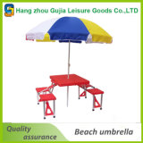 parasol de playa modificado para requisitos particulares 52 '' x8k de la talla y de la insignia